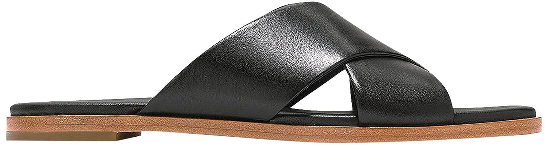 Cole Haan Women's Anica Criss Cross Slide Sandal B06XH5HYGF 7 B(M) US|Black Leather