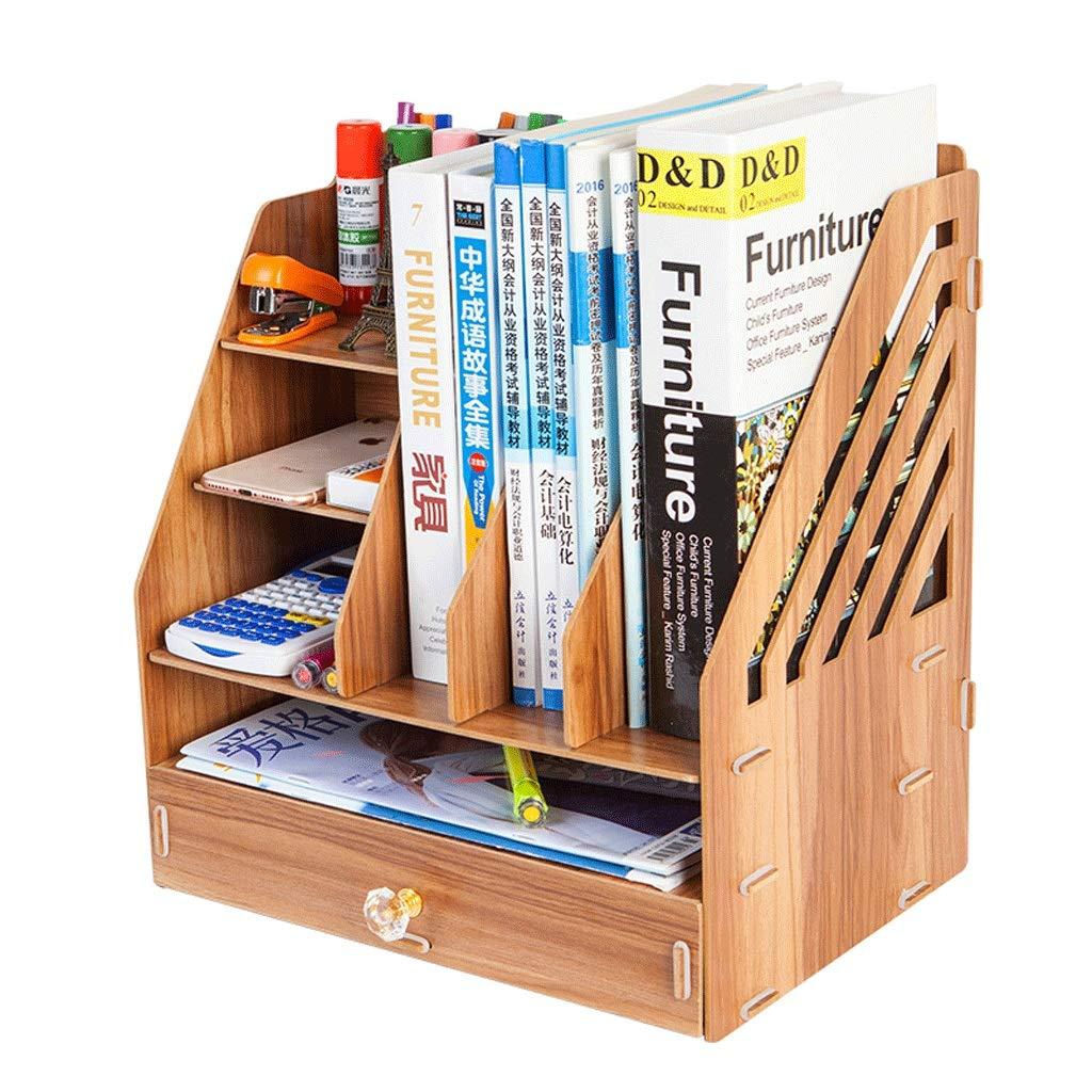 Aktenordner Einfaches Bücherregal Mehrlagiger Ordner Aufbewahrungsbox Schubladenbox (Farbe   A) B07GSVVTNS      Billig ideal