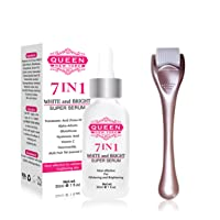 QUEEN NATURAL NEW YORK | 7in1 White and Bright Super Serum (7in1 +Roller)