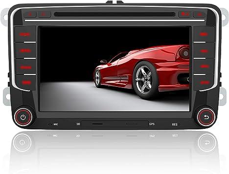 AWESAFE Radio Coche 7 Pulgadas con Pantalla Táctil 2 DIN para Volkswagen, Autoradio para VW Passat Seat Golf Skoda y etc. con Bluetooth/GPS/FM/RDS/CD ...