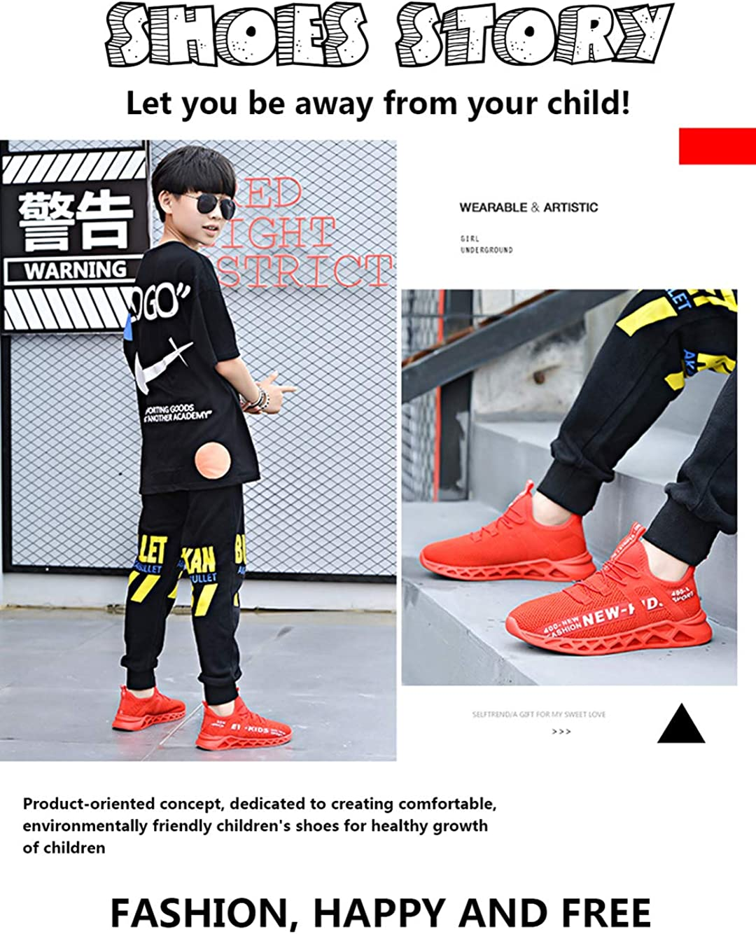 Fille Gar/çon Chaussures de Course Tennis Fitness Sneakers Femme Walking Shoes Baskets Mode Mixte Enfant Running Sneakers 21-29
