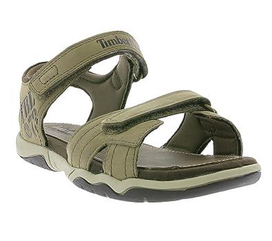 c70d31ab9e3f8c Timberland Oak Bluffs Leather 2-Strap Kids Sandals Beige 2190A