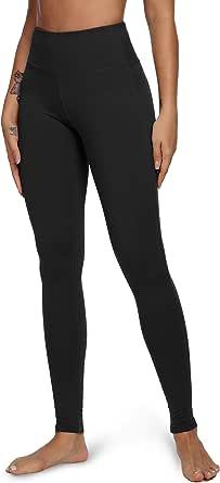 Queenie Ke Women Power Flex Yoga Pants Workout Running Leggings Size XXXL Color Midnight Black Long