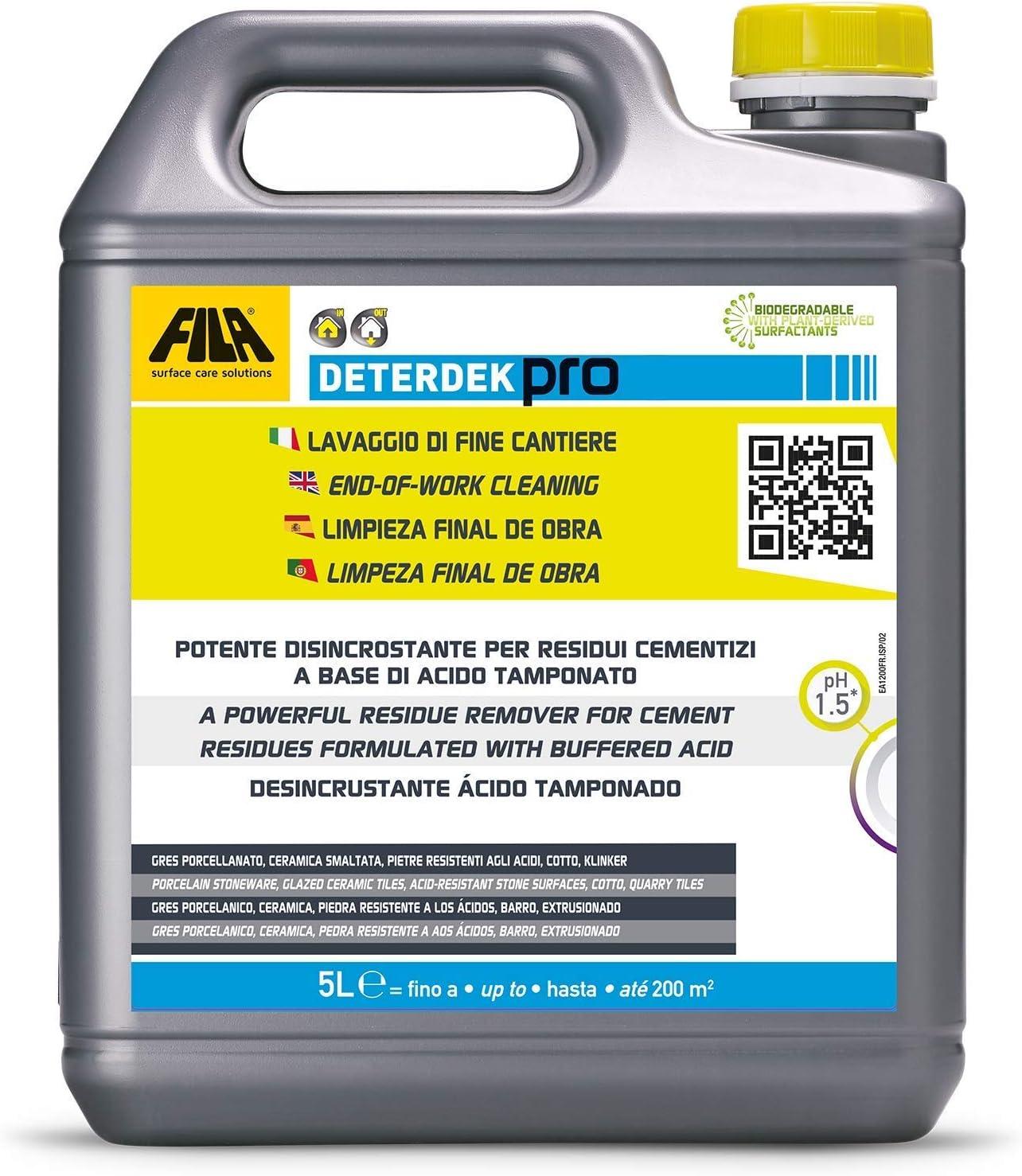 Fila Surface Deterdek - Limpiador para obras, 5 litros: Amazon.es ...