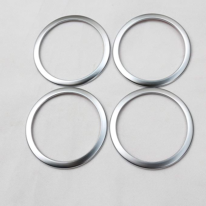 TongSheng Car Door Speaker Ring Trim Sticker for BMW 3 Series GT 316 318 320 2013-2017 Car ABS Matte Chrome Accessories 4Pcs//Set