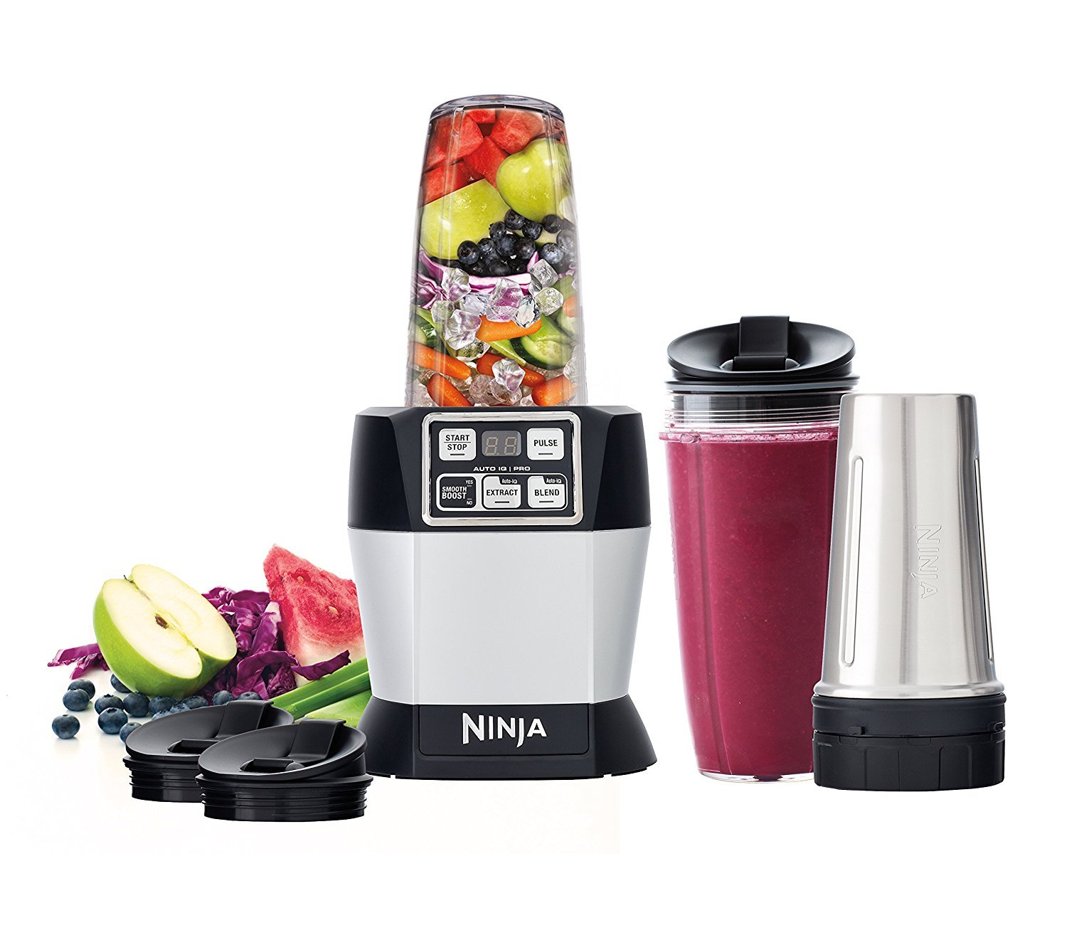 Nutri Ninja BL487 1100 watt Auto iQ Pro Nutrient & Vitamin Extraction Blender (Certified Refurbished)