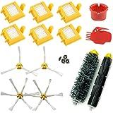 ASP-ROBOT® Recambios Roomba serie 700 760 765 770 772 775 776 776p 780 782 785 786. Filtro hepa, cepillo lateral, rodillo central y accesorios. Pack repuestos. KIT recambio nuevo (6 x filtros, 2 x cepillos de 3 aspas, 2 x cepillos de 6 aspas, 1 x pack de cepillos centrales, 1 x herramienta limpieza cepillos, 1 x herramienta limpieza rodillos)
