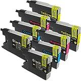 互換インクカートリッジ 対応残量表示機能対応 4色x2セット(合計8本) LC12-4PK