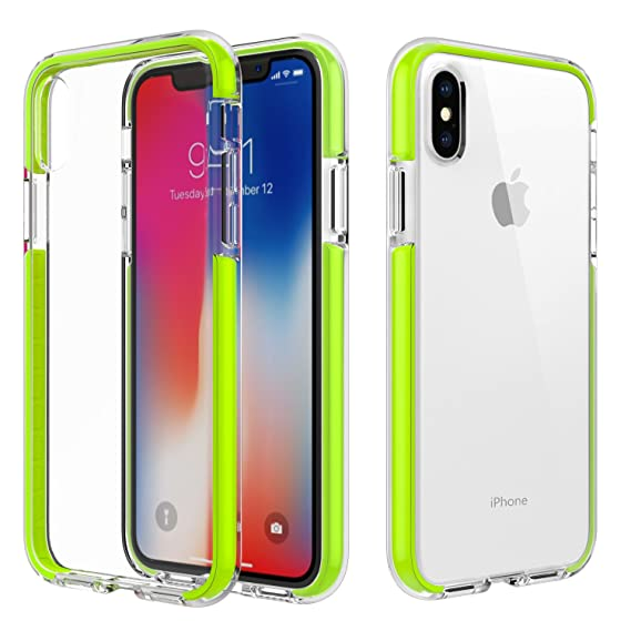 separation shoes f84ae 48d55 MoKo Case Compatible with iPhone Xs/iPhone X/iPhone 10, Clear Case with  Light and Slim Flexible Bumper TPU Rubber Anti-Scratch Cover Fit with Apple  ...