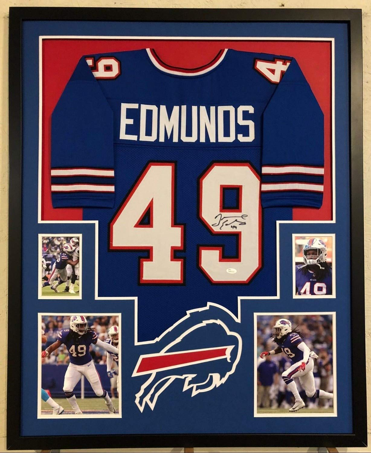 good out x 0b9c9 c1e60 Tremaine Edmunds Autographed Signed Custom Framed Buffalo ...
