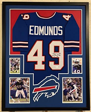 060f8aa00 Image Unavailable. Image not available for. Color  Tremaine Edmunds  Autographed Signed Custom Framed Buffalo Bills Blue ...