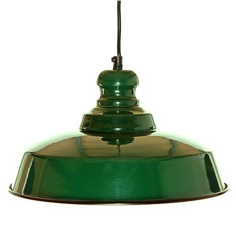 Decoración Vintage Loft Verde Botella - Lámpara: Amazon.es ...