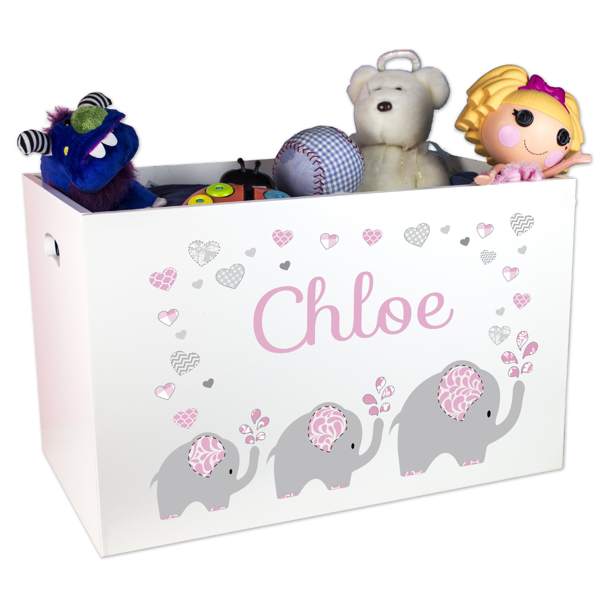 Child's Personalized Elephant Toy Box