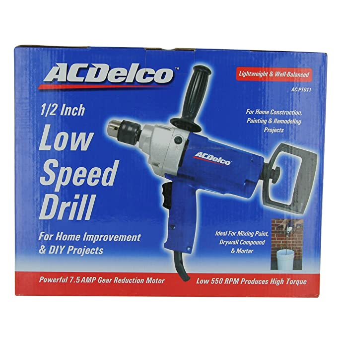 AC Delco AC-PT011 1/2in Low Speed Drill - Power Pistol Grip