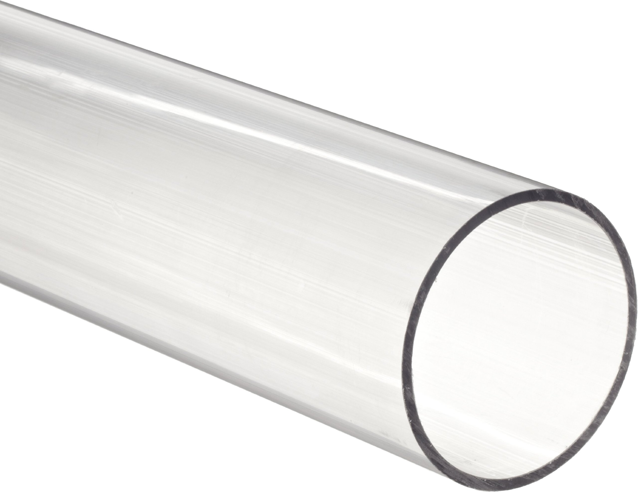 Clear Polycarbonate Tubing, 2'' OD, 1-3/4'' ID, 1/8'' Wall Thickness, 6' Length by Small Parts