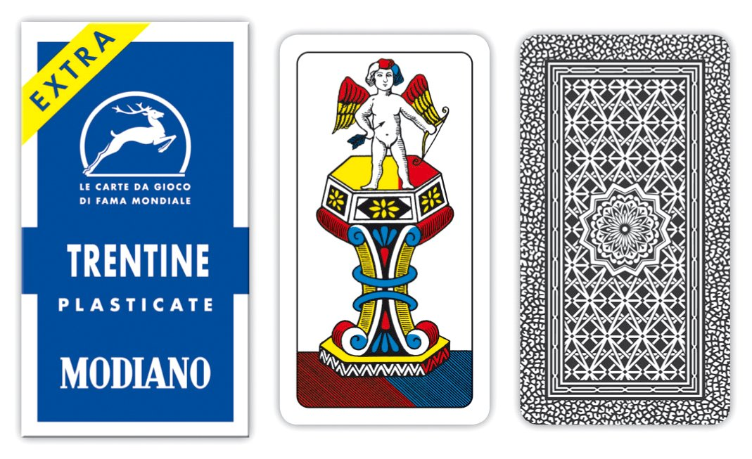 Modiano Trentine 30/90 - Carte da gioco regionali 300121