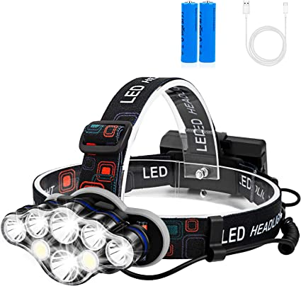 Waterproof Headlamp Flashlight Rechargeable Running Camping Head Light Led Torch