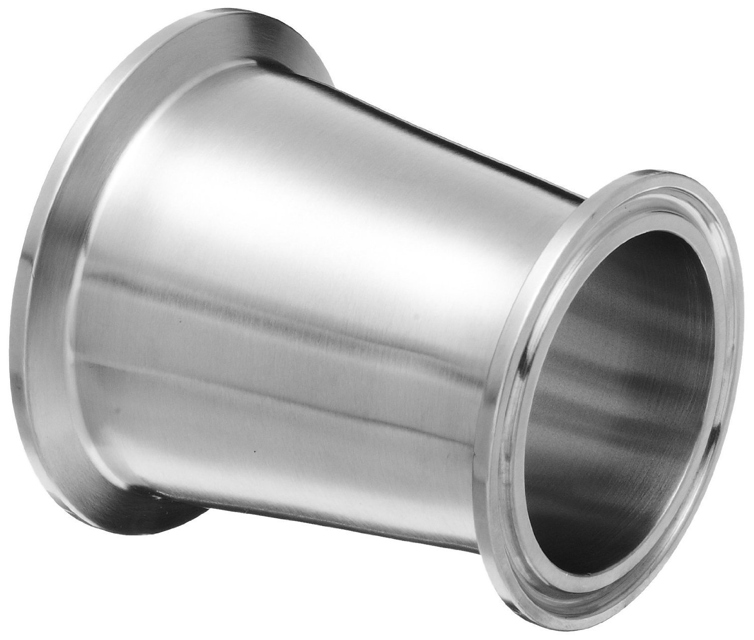 Dixon B3114MP-G250200 Stainless Steel 304 Sanitary Fitting, Clamp Concentric Red Fiberglassucer, 2-1/2'' Tube OD x 2'' Tube OD