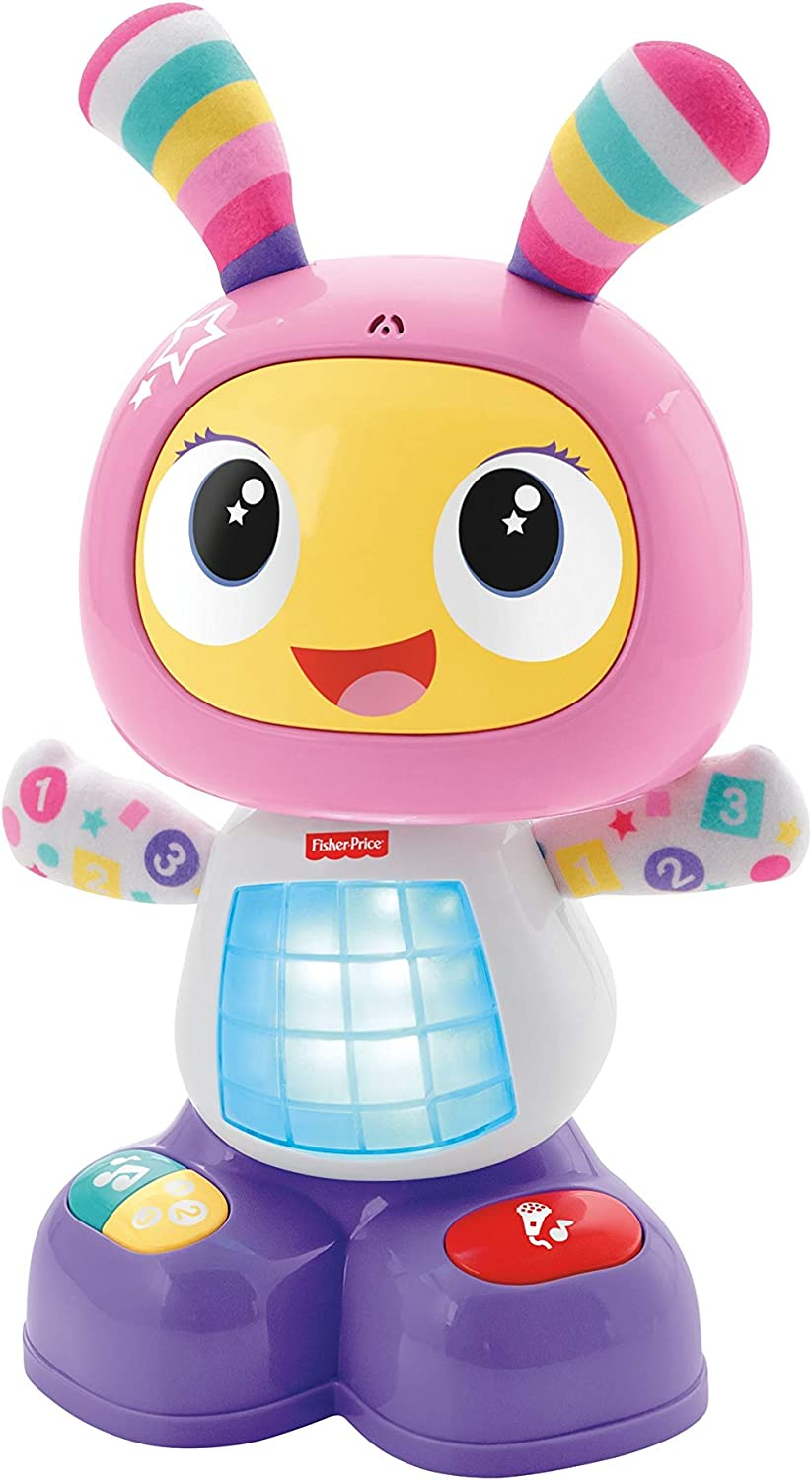 Fisher-Price - Robot interactivo Robita - color rosa y morado - juguetes educativos - (Mattel FBC99)