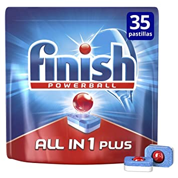 Finish Todo en 1 Max Regular Pastillas para Lavavajillas - 25 + 10 ...