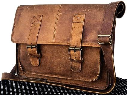 802ed5a499c9 Amazon.com: TUZECH Genuine Leather Bag 15