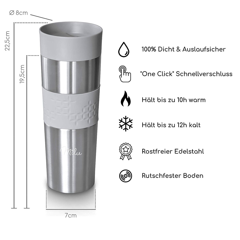 AUTOBECHER 450 ml Edelstahl Thermobecher Isolierbecher Kaffeebecher Becher 86