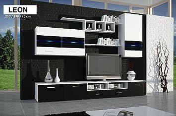 LEON   Black Gloss Finish   TV Table   Entertainment Unit   TV Stand    Living Part 48