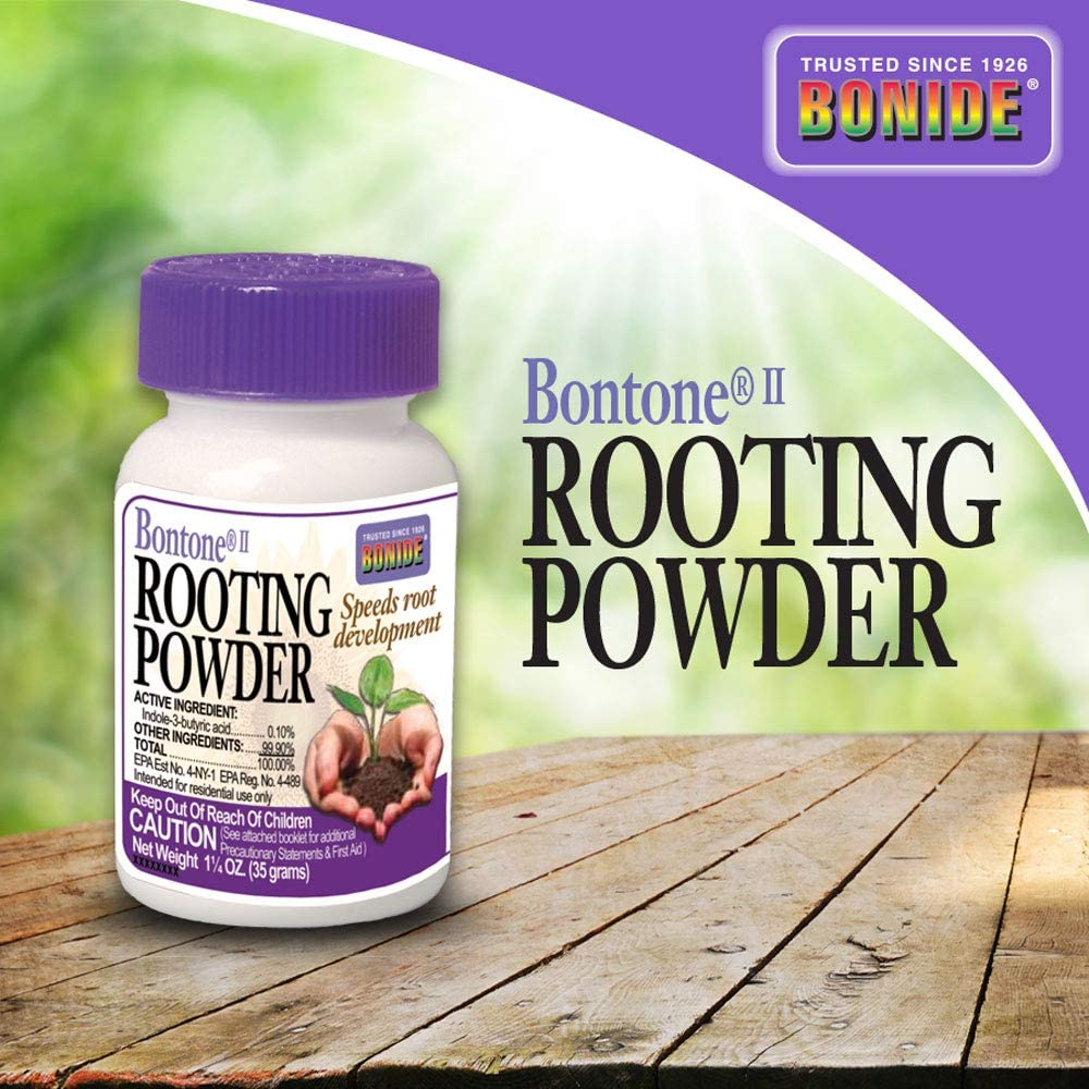 Bonide (BND925) - Bontone II Rooting Powder, Hormone Root Fertilizer (1.25 oz.)