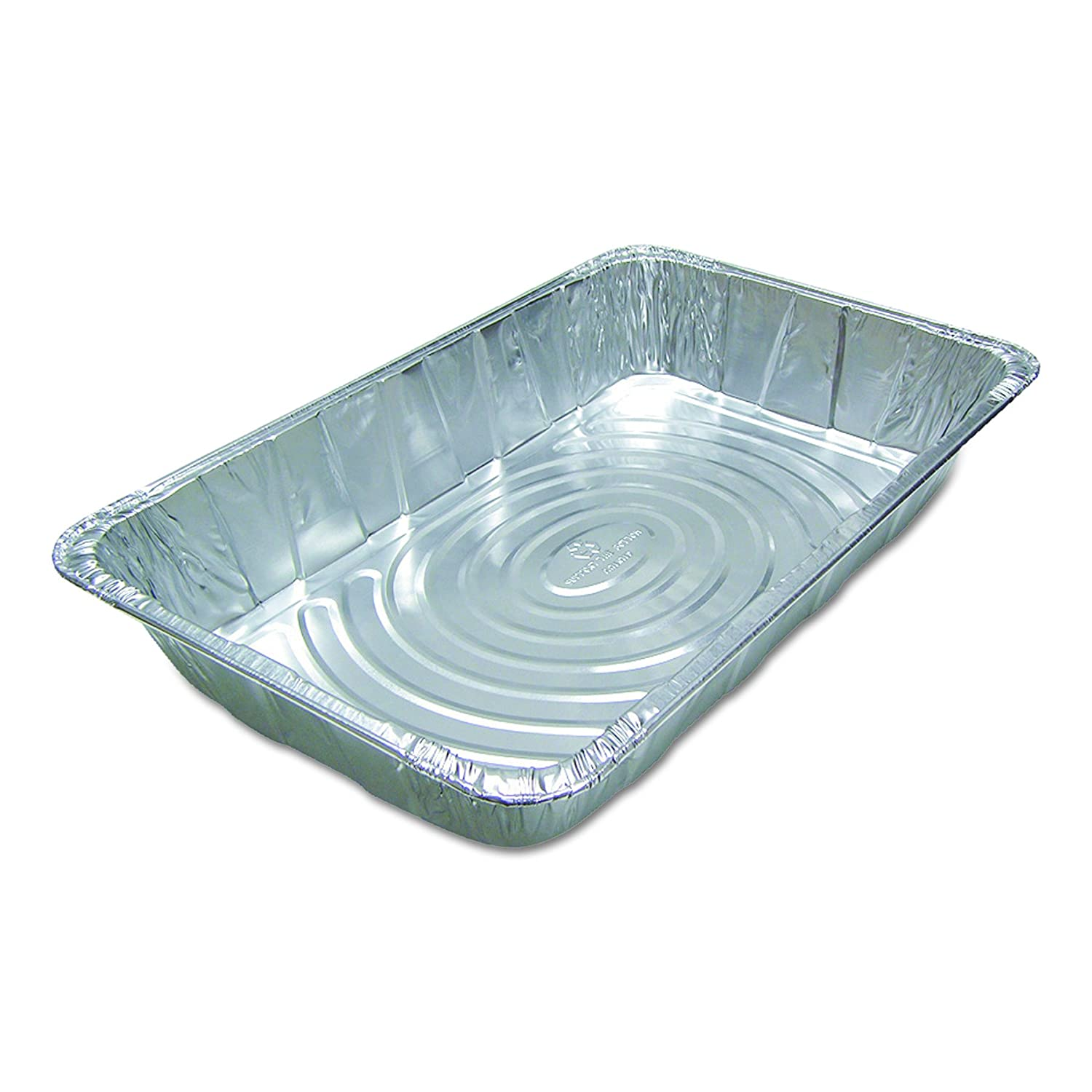 Pactiv Y6050XH Ribbed Full Size Aluminum Steam Pans, 20 3/4 x 12 3/16 x 3 3/8 (Case of 40)