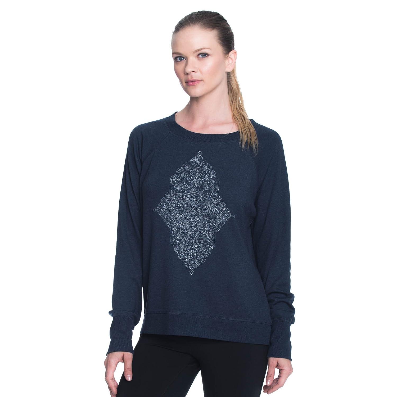 Gaiam Women's Calla Cropped Pullover Flow Fleece Sweater GAW173TL02M