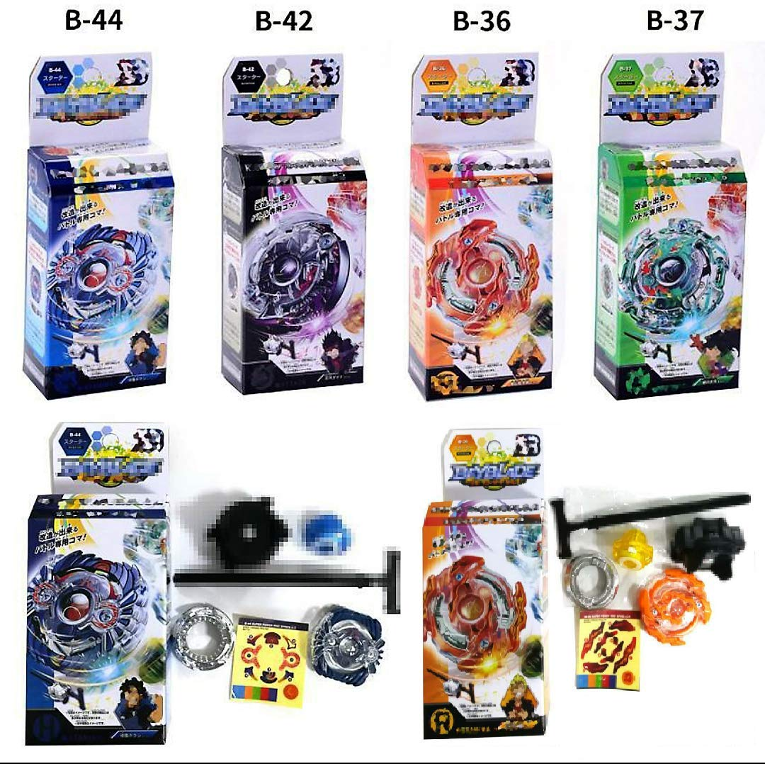 Beyblades Burst with Launcher 4-Pack Value Starter Pack Fighting gyro Original Box Metal Plastic Fusion Gift Toys for Kids SZS