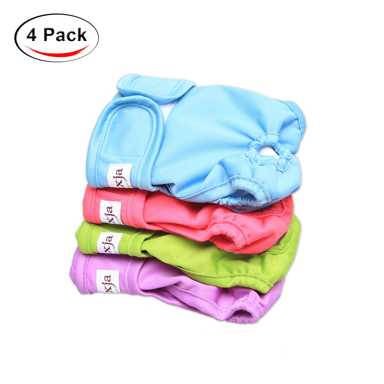 LUXJA Reusable Male Dog Diapers Pet Pack Of 3 Washable Puppy Belly Band