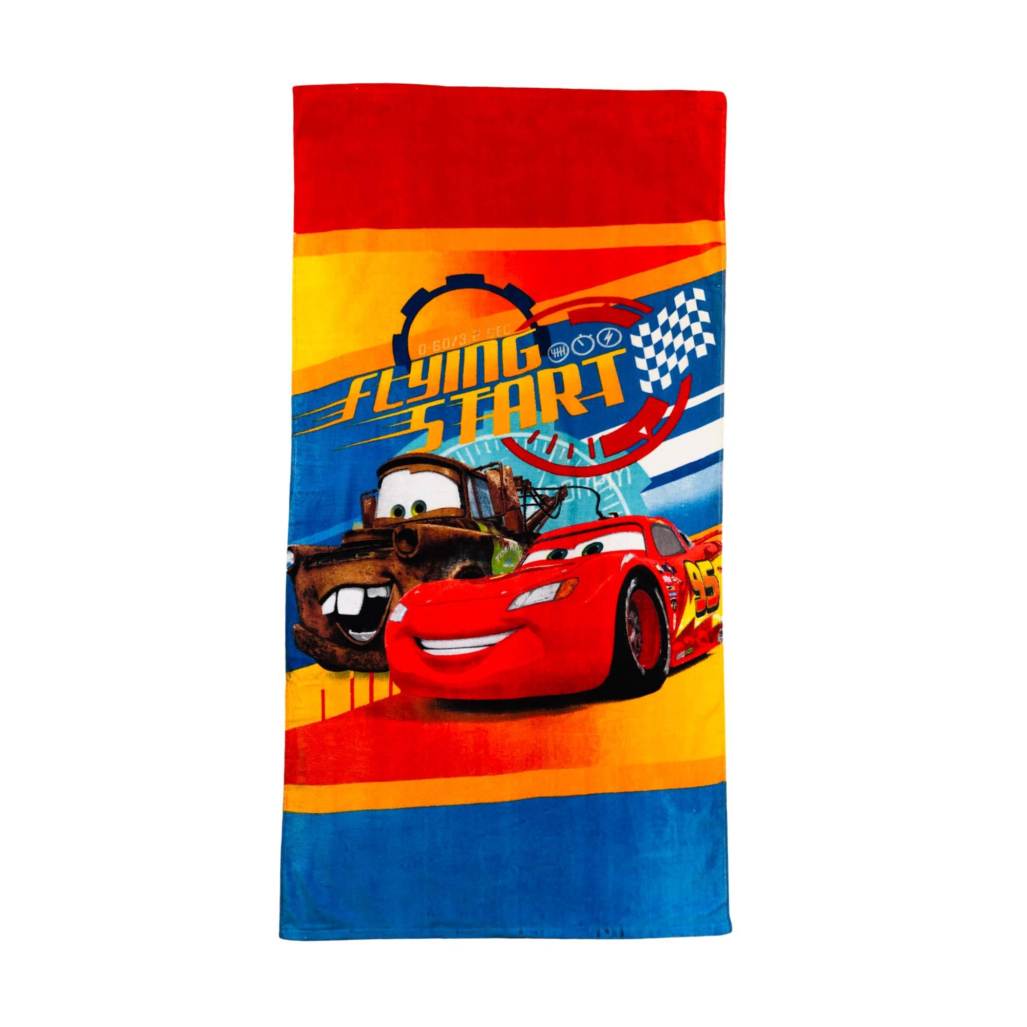 Cars Disney Pixar Lightning McQueen and Tow Mater Flying Start Boys Towel