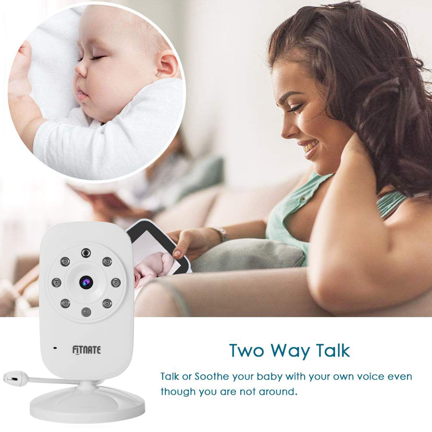 Two Way Talk Camera With Audio /& Infrared Night Vision For 3.5 Baby Monitors BAIESHIJI FITNATE Baby Monitor Camera Anmade,UBBCARE Support Multi Cameras BAIESHIJI,FITNATE LEXNHOM,LAPUTA