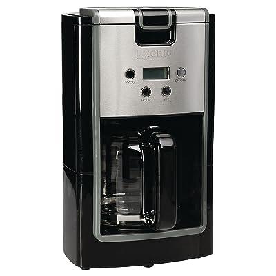 12tasses machine à café + Noir Machine à café en acier inoxydable pour café filtre Cafe