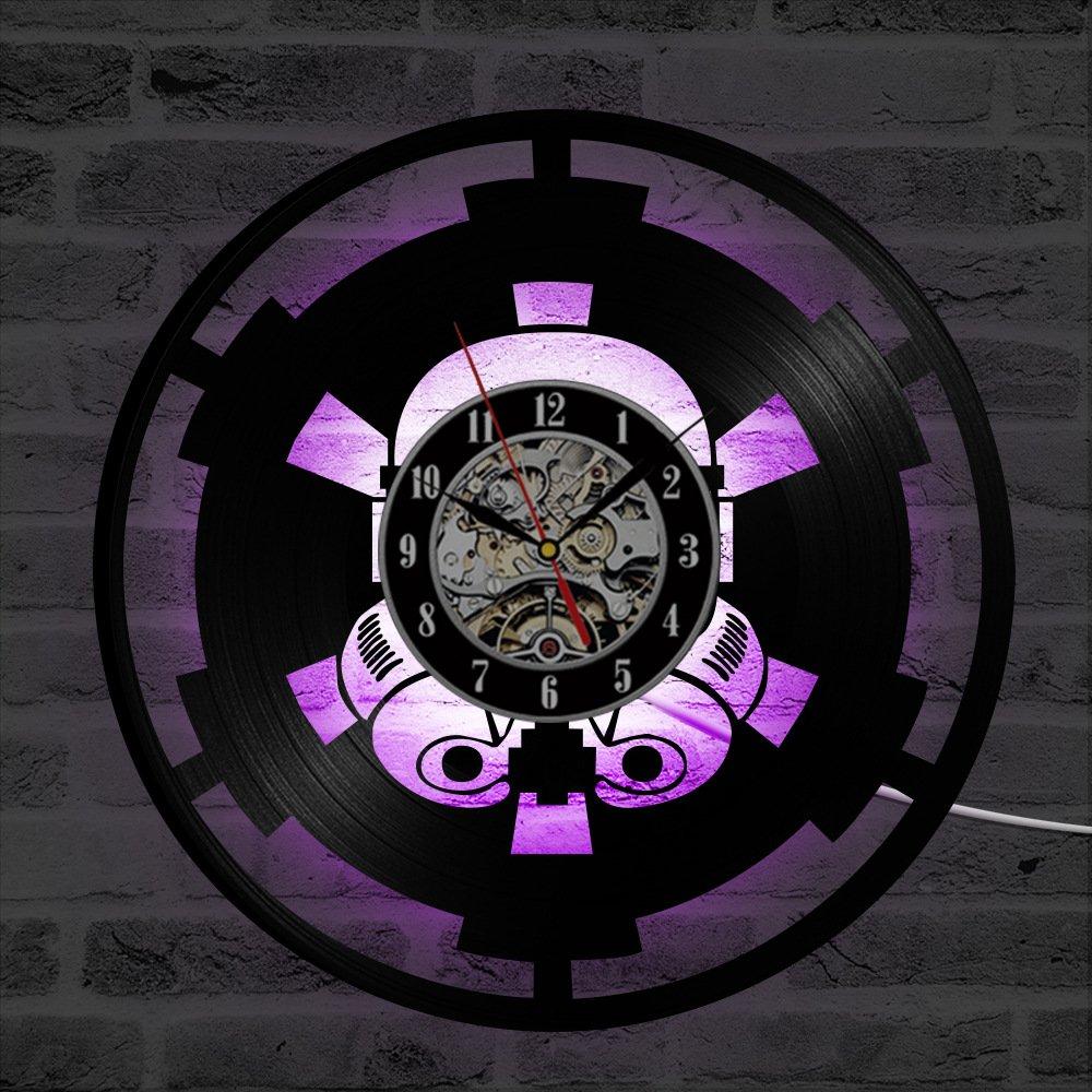 Star Wars LED Reloj de Pared Control Remoto Silencio ...