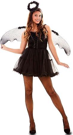 Fyasa 706567-t04 disfraz de ángel, negro, grande: Amazon.es ...