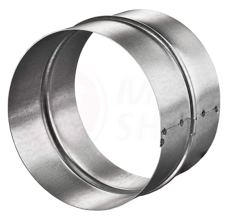 MKK/® /Ø 80 mm Verbinder PVC-ALU-Flex-Rund-Rohr Verbindungsst/ück Nippel Wickelfalzrohr L/üftung