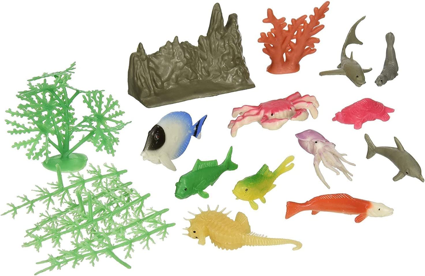 US Toy Assorted Ocean Animal and Plant Play (2-Pack of 20)