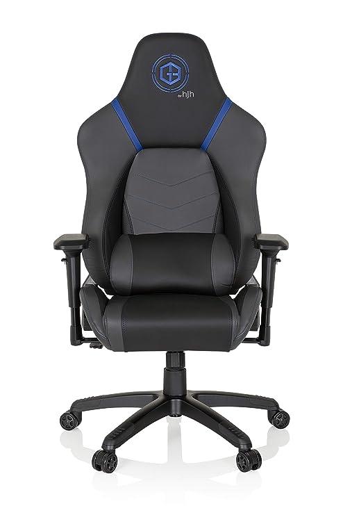 hjh OFFICE 734282 silla gaming GAMEBREAKER POLARYS piel sintética gris / azul silla de oficina racing