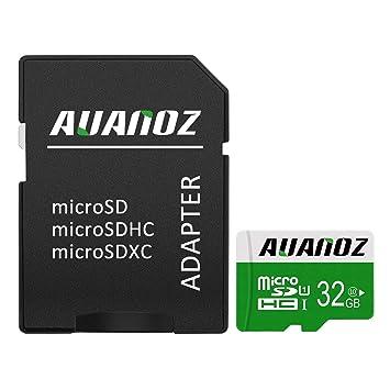 Mini Sd Karte 32gb.Micro Sd Karte 32 Gb Auanoz Micro Sdhc Klasse 10 Uhs I High Speed Speicherkarte Fur Telefon Tablet Und Pc Mit Adapter Grun 32gb