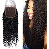 Closure Human Hair Lace Frontal Closure Capelli Veri Naturali Ricci Kinky Curly Free Part con Baby Hair