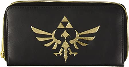 Legend of Zelda Triforce Ladies Logo Zip Alrededor de Cartera / Monedero