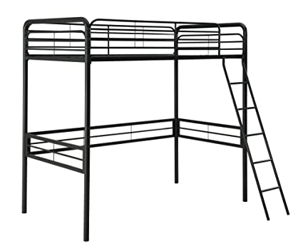 Amazon.com: DHP Simple Metal Loft Bed Frame, Multifunctional, Twin ...