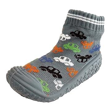 96e00ba779694 Infant Q Baby Boys Girls Anti-slip Rubber First Walking Sock Shoes (M:  12-18 Months, Cars | Grey)