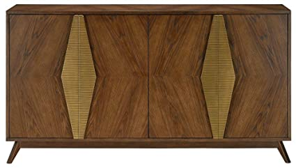 Credenza Dark : Choice furniture tami dark walnut credenza desk w hutch