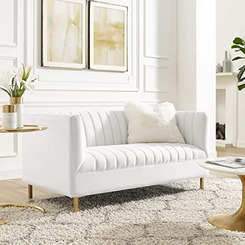 Modway Shift Channel Tufted Performance Velvet Loveseat