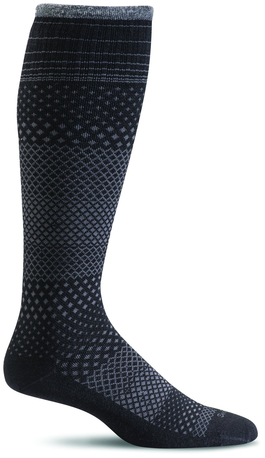Sockwell Women's Micro Grade Graduated Compression Socks, Black, Medium/Large