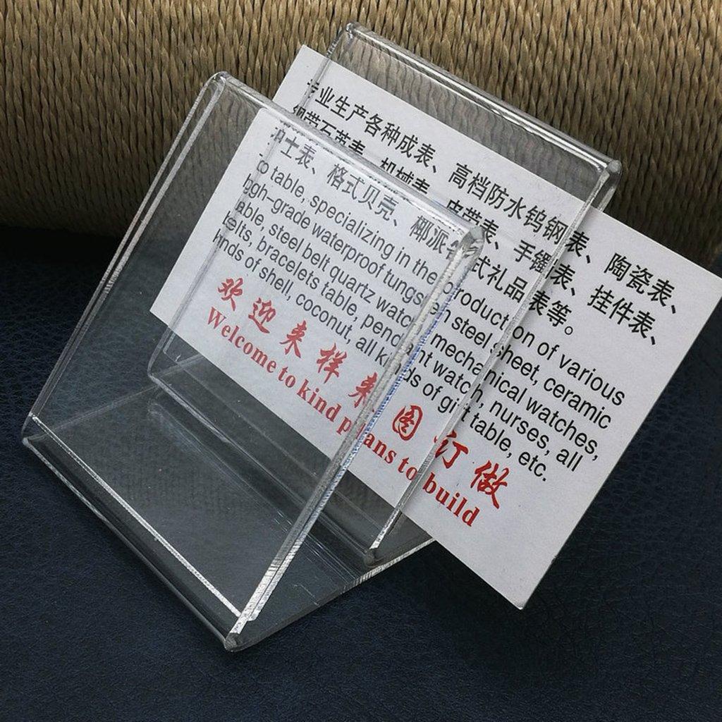 Almencla 3pcs Acrilico Menu Nome Titolari Di Carta Poster Leaflet Display Inclinato Stand