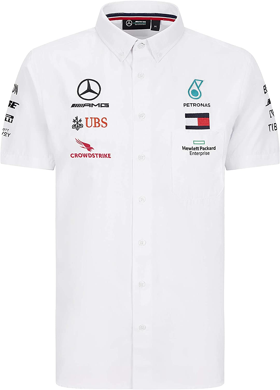 Mercedes AMG Petronas Motorsport F1 Mens Team Shirt White 2020